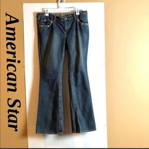 American Star Mom Cute Jeans. Slightly Distressed